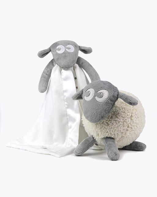 sweetdreamers ewan the dream sheep baby sleep aid baa baa blankie bundle grey 1 - Drømmesauen Ewan og Ba Ba Blankie(grå)