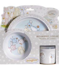 diinglisar middagssett eller melaminsett for baby og små barn